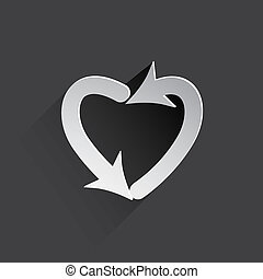 dating arrow web icon. - dating arrow web flat icon...