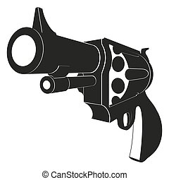 Revolvers isolated on white background - Revolvers...