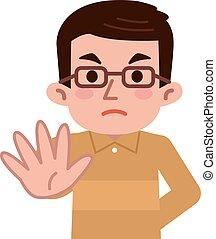 Reject middle-aged men - Vector illustration