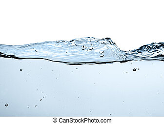water - close-up of water wave against white background