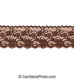 brown lace ribbon