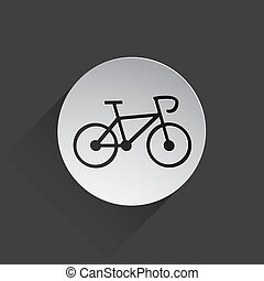 bicycle web icon - bicycle web flat icon illustration