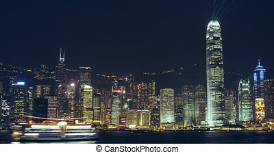 time lapse of victoria harbour hong kong - timelapse video...