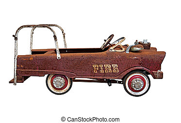 Small old rusty Fire Truck