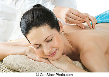 acupuncture - the very pretty young woman on acupuncture...