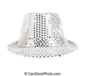 festively white hat