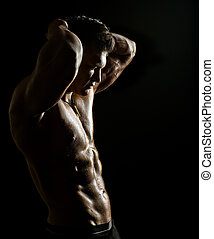 muscular sexy guy - the very muscular handsome sexy guy on...