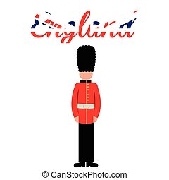 England - White background with text and a royal british...