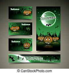 Halloween cards and banner