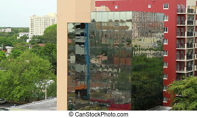 Miami reflective window building - Miami Florida reflective...