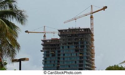 Miami Florida construction of a high rise building