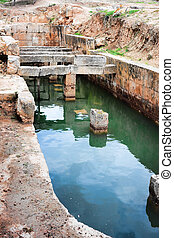 Apsidal Cistern - Apsidal cistern at the Sanctuary of Hera...