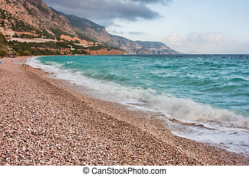 Mediterannean shore - Landscape of a Mediterranean Sea beach...