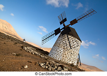 Spanish windmill in Fuerteventura