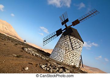 Spanish windmill in Fuerteventura