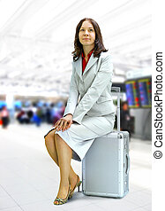 woman in airport