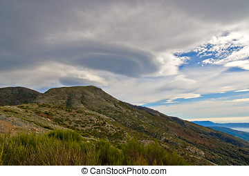 Lenticular clouds over the Montseny mountains