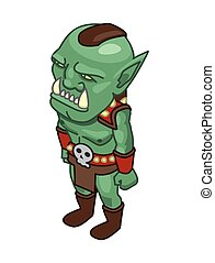 stylized green orc