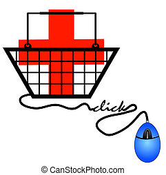concept of shopping online for internet health care