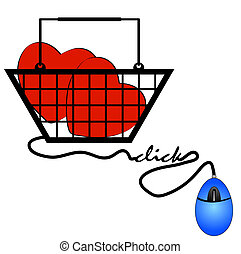 concept of shopping online for internet love