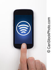 Contactless mobile phone payment - Contactless payment or...