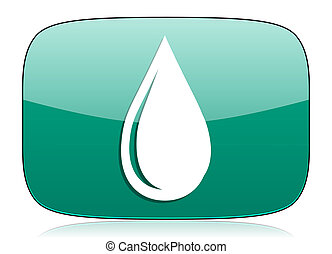 water drop green icon