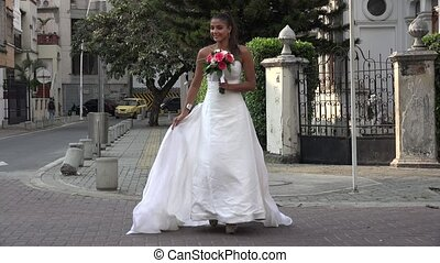 Bride Crossing Street