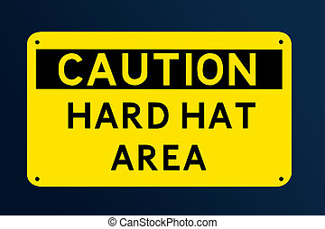 Hard Hat Sign - Caution Hard Hat Area