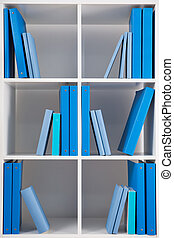 Simple style white bookcase
