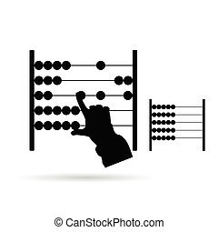 abacus for children vector silhouette