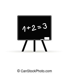 school board with numbers vector