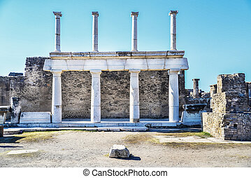 Pompeii - Roman archeologic ruins of the lost city of...