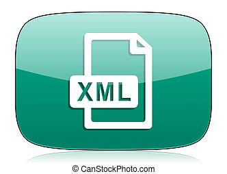 xml file green icon