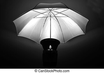 Studio Strobe with Umbrella for Portraits - Studio strobe...