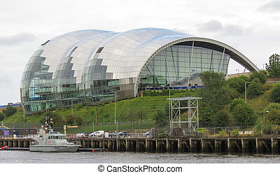Sage Gateshead in Gateshead - GATESHEAD, UK - AUGUST 13,...
