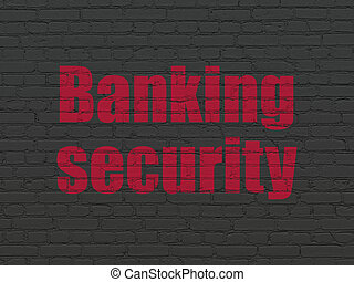 Protection concept: Banking Security on wall background
