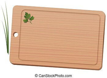 Cutting Board Wooden Texture - Cutting board with parsley...