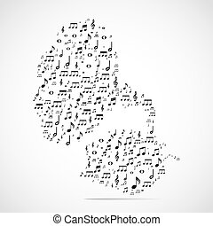 Abstract musical instrument background Eps 10 vector...