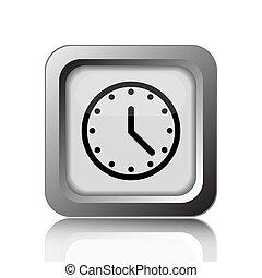 Clock icon Internet button on white background