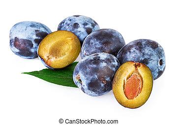 Plums Fruit isoalted on White - Plums Fruit