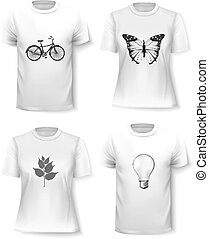 T-shirt template set for men and women.