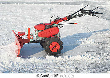Snow Removal Equipment - Snowplow for Removing Snow after...