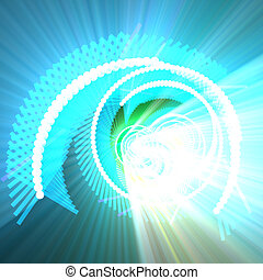 Fiber optics data spiral glowing - Spiral of glowing...