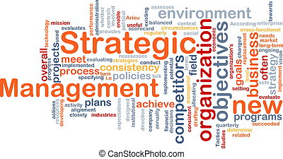 Strategic management word cloud - Word cloud concept...
