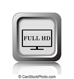 Full HD icon. Internet button on white background.