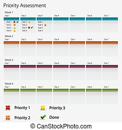 Priority Assessment Chart Icon - An image of a business...