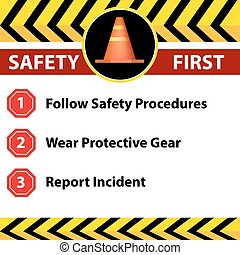 Workplace Safety Sign Icon - An image of a workplace safety...