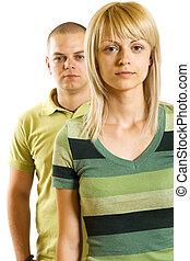 young unhappy couple