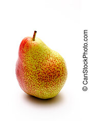 Speckled pear isolated on a white background