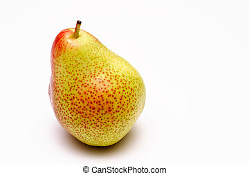 Speckled pear on a white background